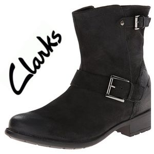 Clarks Plaza Float Leather Ankle Boot